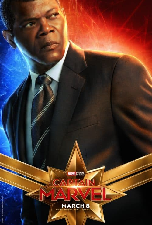 Captain Marvel Movie Poster Nick Fury