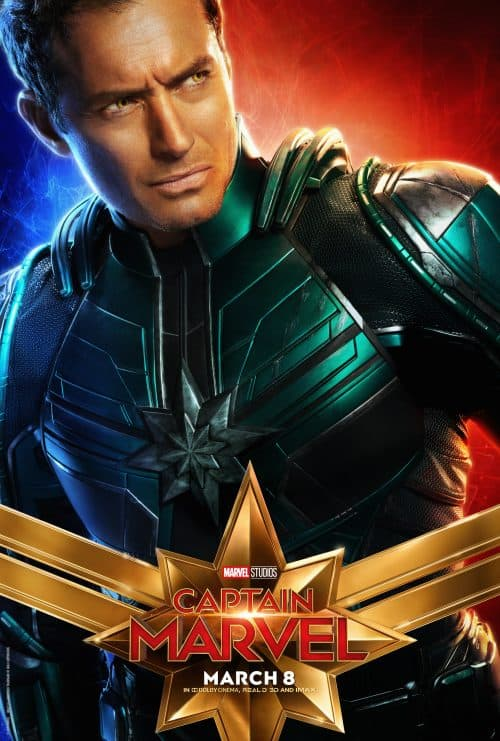Captain Marvel movie poster Jude Law