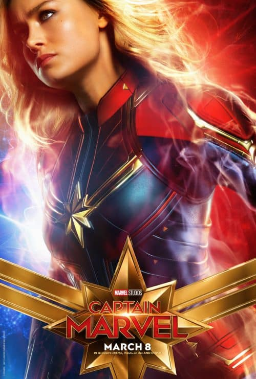 Captain Marvel Movie Poster Brie Larson