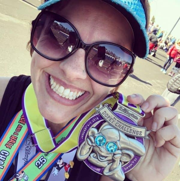 Sarah Dopey Challenge medal 2018