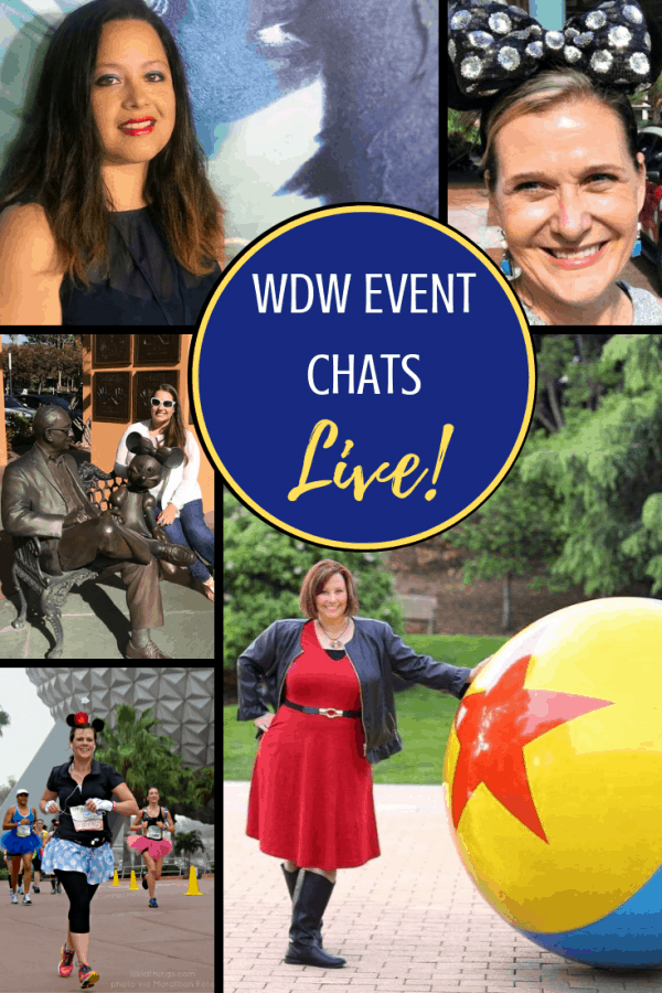 wdw event chats LIVE on Facebook
