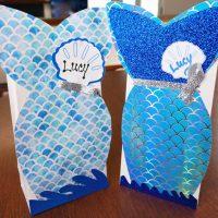 Easy Mermaid Valentine Bags