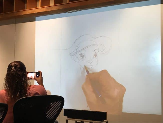 Mark Henn draws the Little Mermaid Ariel
