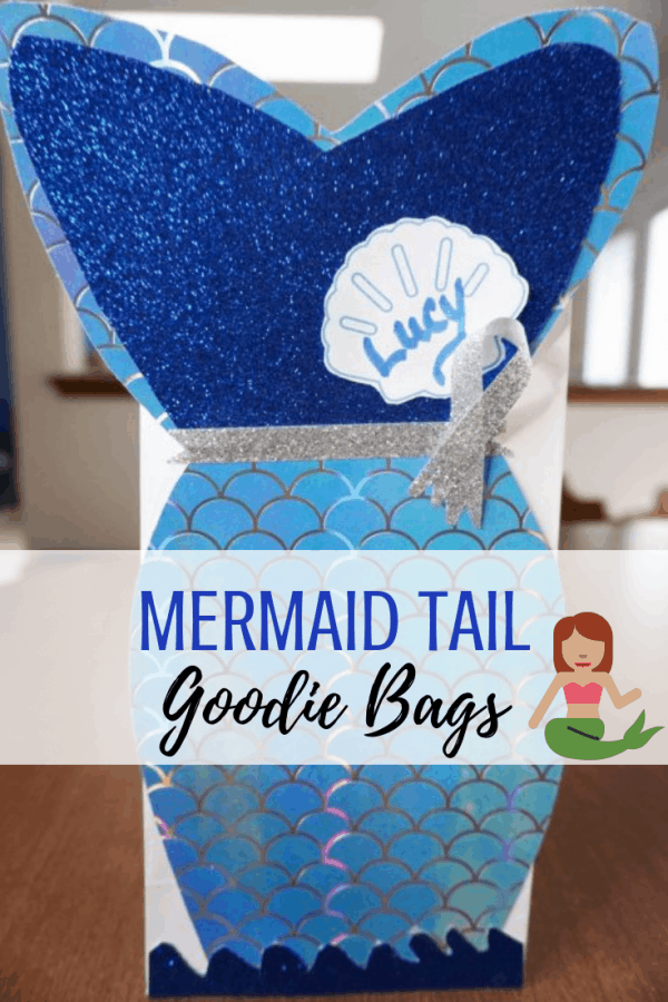 Mermaid Tail treat bags inspired by The Little Mermaid for Valentine's Day