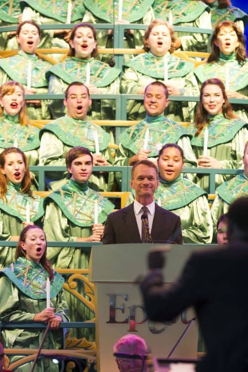 Neil Patrick Harris at the Candlelight Processional at Epcot