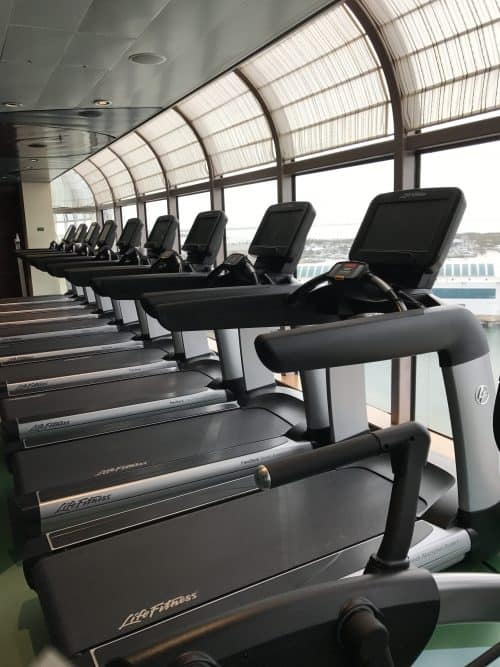 Treadmills in the Fitness Center on the Disney Dream