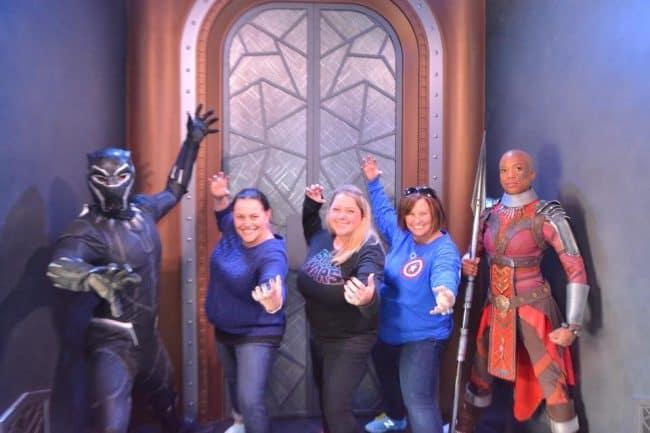 Black Panther meet and greet Disneyland