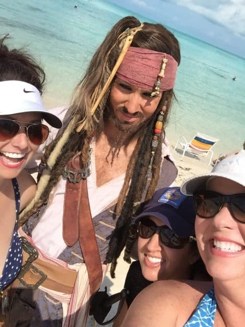 Jack Sparrow on Disney Cruise Line Castaway Cay