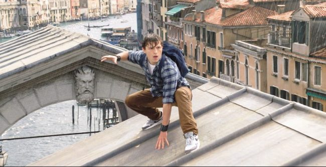 SPIDER-MAN: FAR FROM HOME Peter Parker on rooftop