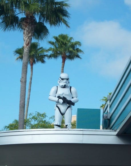 Storm Trooper on top of Disney's Hollywood Studios ticket windows
