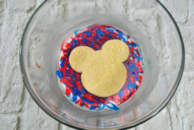 Red, White and Blue Mickey Mouse Tie-Dye Cookies