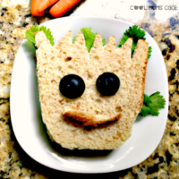 Baby Groot Sandwich-A Food Art DIY to Celebrate Guardians of the Galaxy Vol. 2 Out on Blu-ray