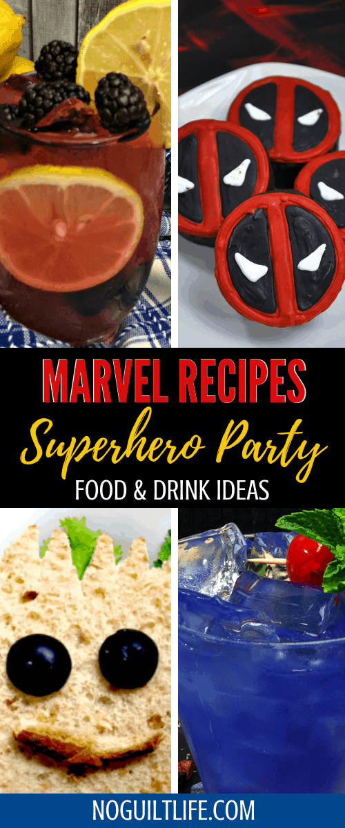 marvel food ideas and marvel drink ideas