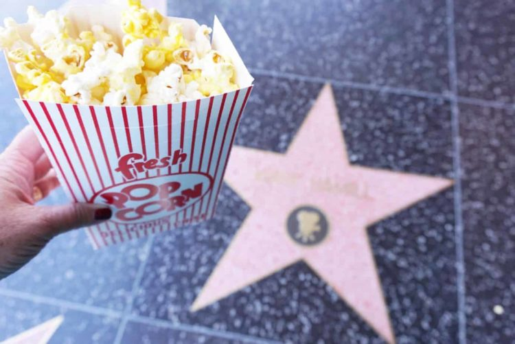 pop corn and mark hamill star on walk of fame