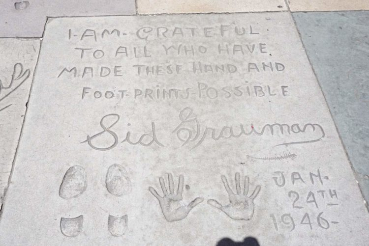 Grauman's Chinese Theatre forecourt of the stars