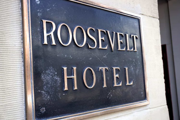 roosevelt hotel sign hollywood