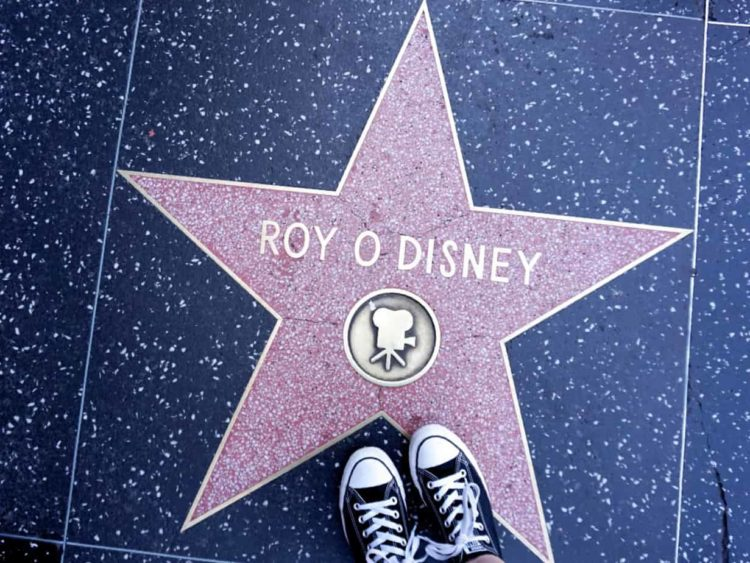 roy disney star on the hollywood walk of fame