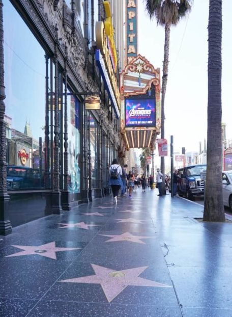 El CApitan Theatre and the hollywood walk of fame