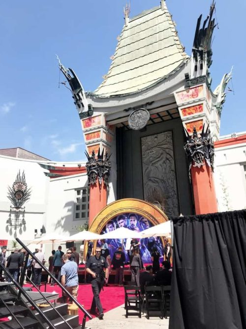 TCL Chinese Theatre Avengers hand print ceremony