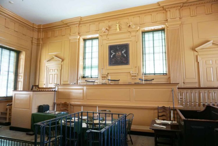 Independence Hall Tour Courtroom