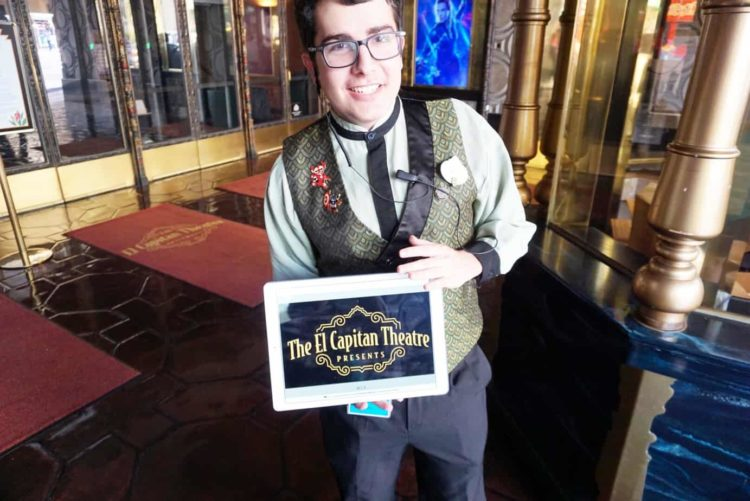 El Capitan Theater Tour Guide