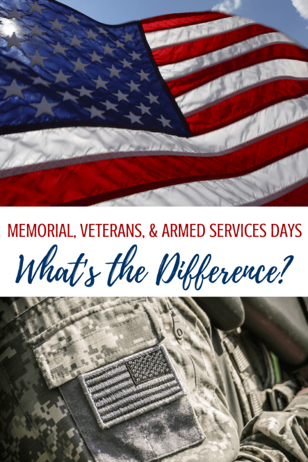 Whats the difference between Memorial Day vs Veterans Day Vs Armed Forces Day