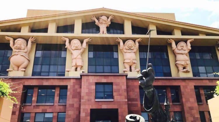 Disney Studios Burbank Lot Legends Plaza