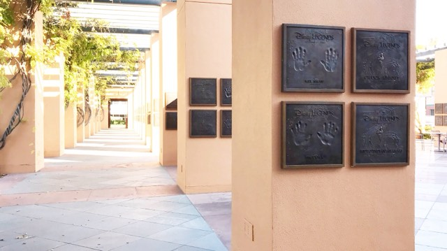 Disney Studios Burbank Lot Legends Plaza handprints Disney Legends Honorees