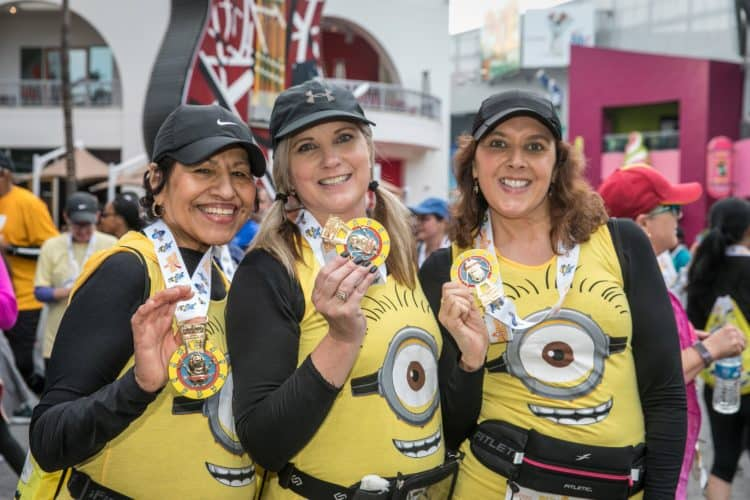 5K minion medal for finishers of the Universal Studios Hollywood 5K fun run
