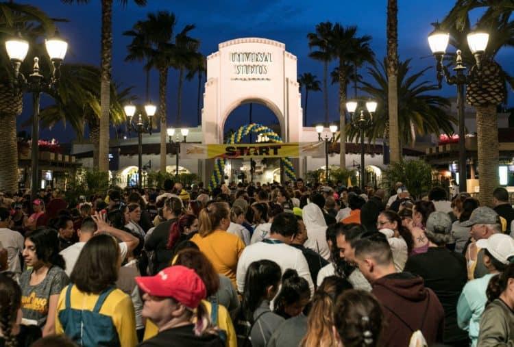 running universal 5K at Universal Hollywood Studios