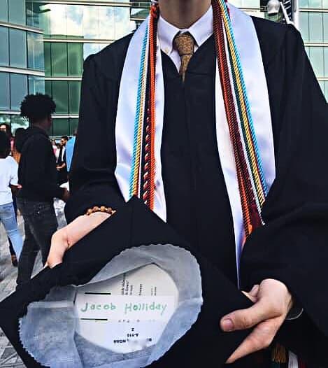 noah's graduation cap