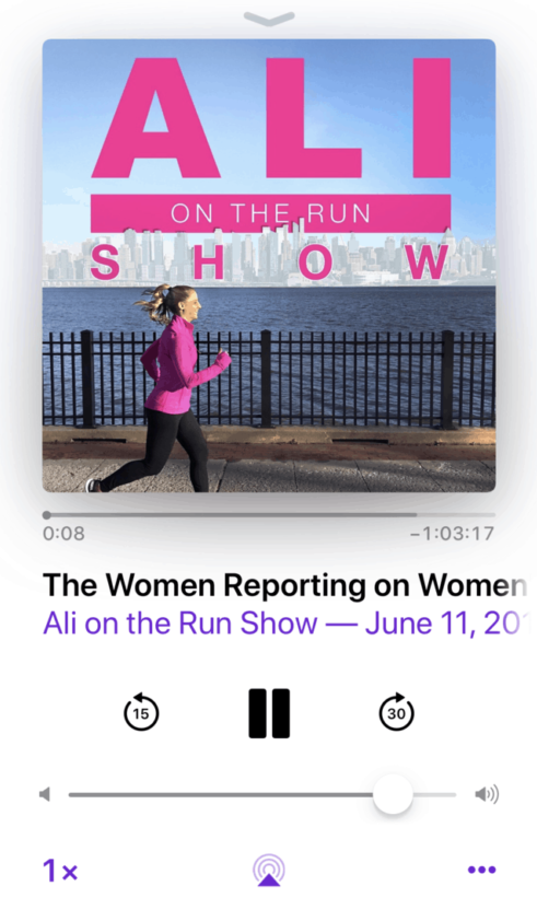 best podcast to listen to when running ali on the run show