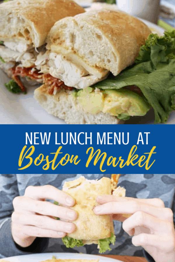 New lunch menu at Boston Market!