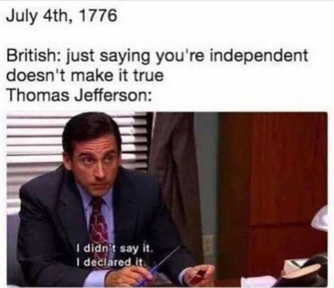 4th of july meme the office
