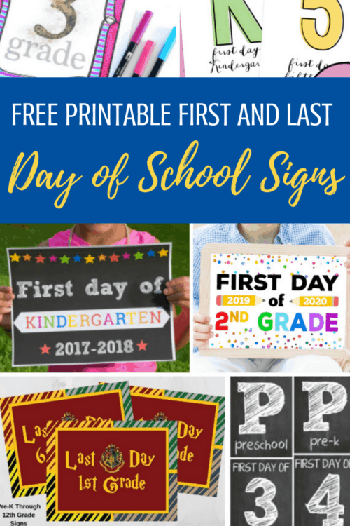 image regarding Last Day of School Signs Printable referred to as Very first Working day of College or university Indicators (And Final Working day of University Symptoms Also