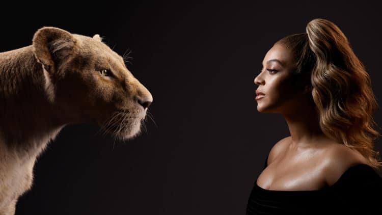 THE LION KING - (L-R) Nala and Beyoncé Knowles-Carter