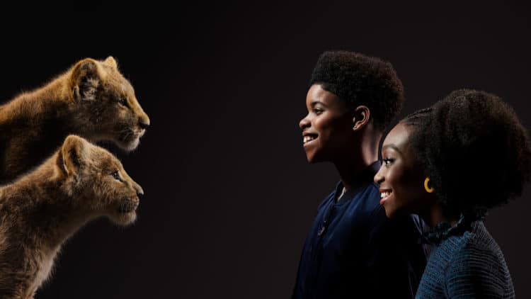 THE LION KING - (Top to Bottom) Simba and JD McCrary and Nala and Shahadi Wright Joseph.