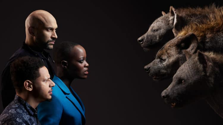 THE LION KING - (Top to Bottom) Keegan-Michael Key and Kamari, Florence Kasumba and Shenzi and Eric André and Azizi.