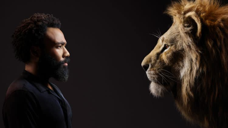 THE LION KING - (L-R) Donald Glover and Simba. Photo by Kwaku Alston.