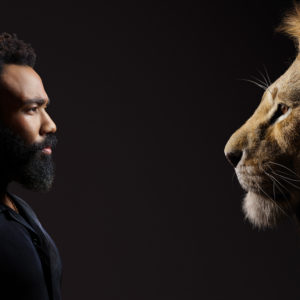 THE LION KING Donald Glover and Simba.