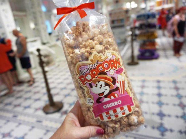 churro popcorn snack