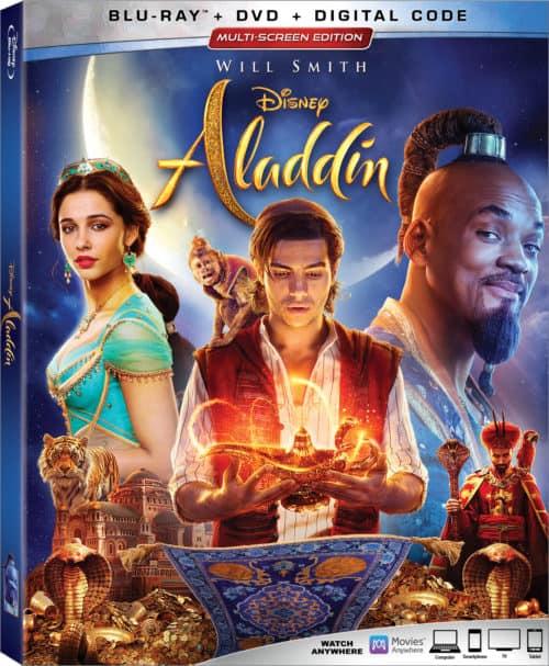 Aladdin on blu-ray and DVD
