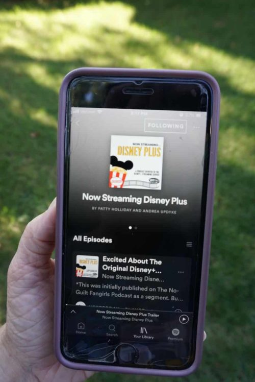 Podcast 101 How to start listening to Podcasts Now Streaming Disney Plus Podcast on a phone