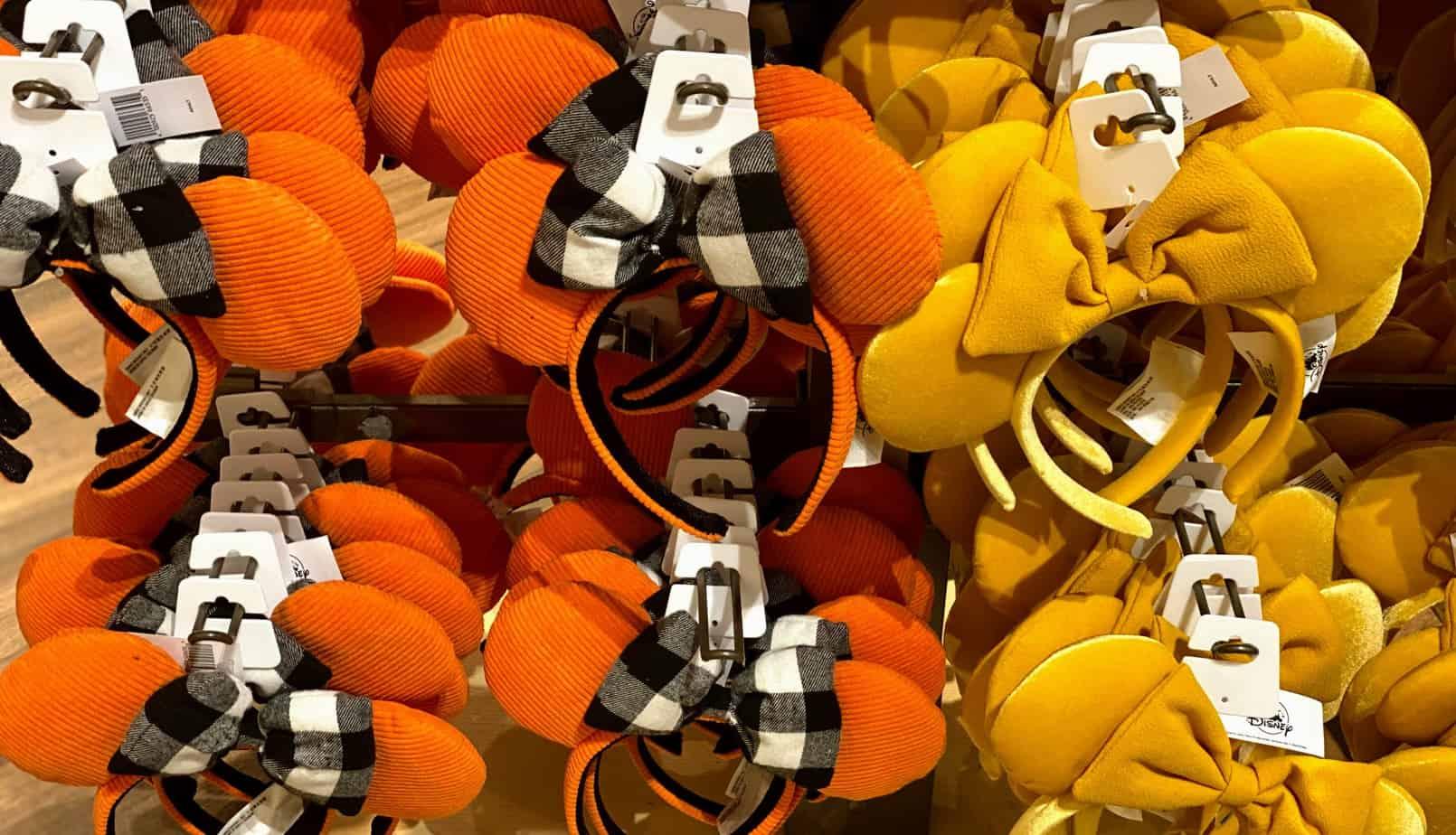 Disney halloween minnie ears fall yellow and orange minnie ears