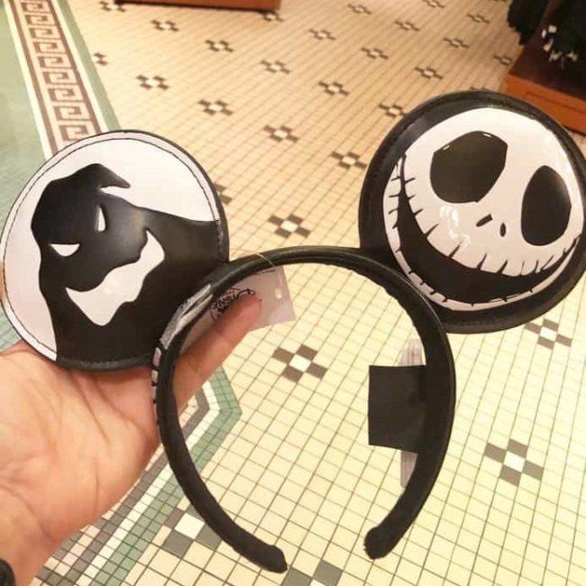 Nightmare before christmas Oggie Boogie and Jack Skeleton Halloween Mickey ears headbands