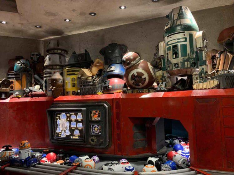 Inside the Droid Depot at Star Wars Galaxy's Edge Walt Disney World
