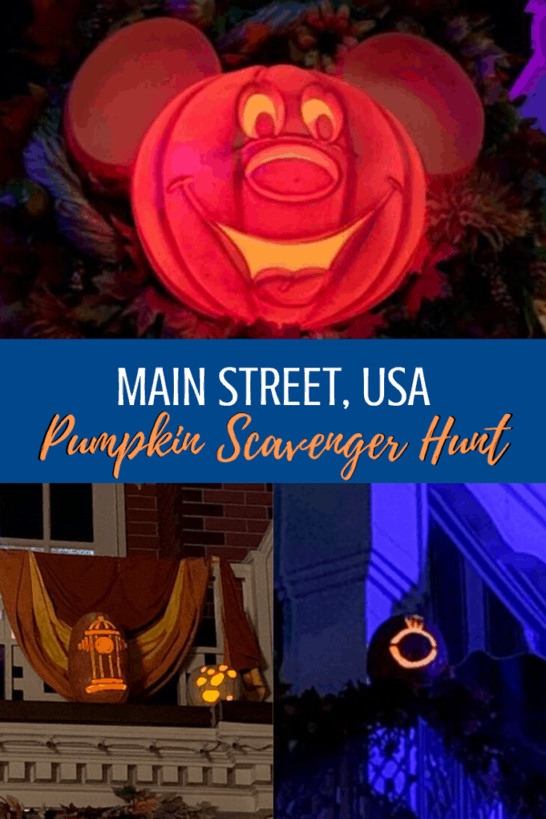 Main Street USA Magic Kingdom Pumpkin Scavenger Hunt