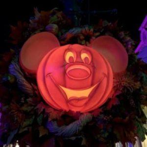 Mickey Pumpkin Wreath on Magic Kingdom