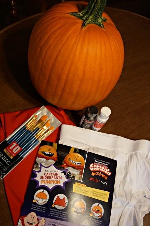 Captain Underpants DIY pumpkin supply kit