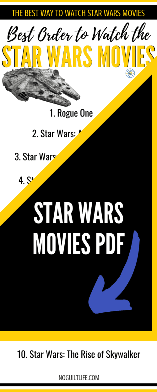 Best order to watch Star Wars Movies PDF